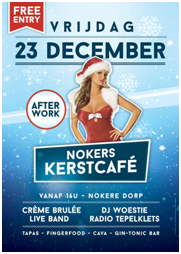 affiche nokers kerstcafe